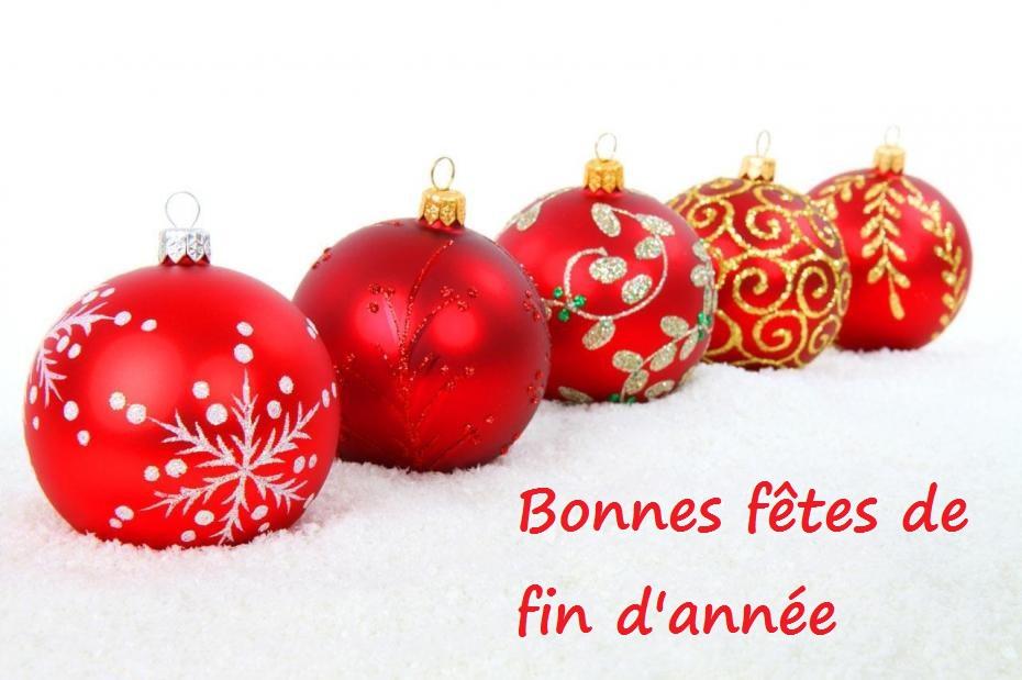 Bonnes fêtes de fin d'année!
